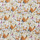 Happy Foxes Polycotton
