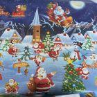 Santa North Pole Christmas PVC Tablecloth Fabric
