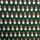 Christmas Snowmen Top Hats 100% Cotton Poplin