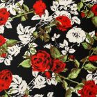 Red Roses Stretch Jersey DTY Fabric