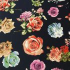 Roses Stretch Jersey DTY Fabric - Multi
